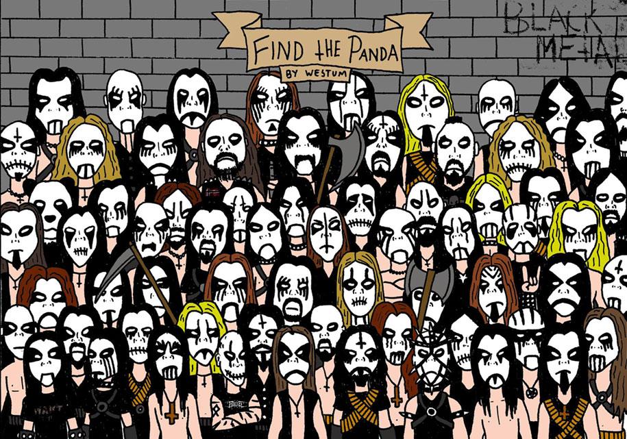gaseste ursul panda printre artistii de black metal stirivirale.ro